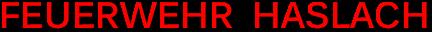 Feuerwehr Haslach